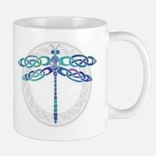 Celtic Dragonfly - Blue with Silver Mug