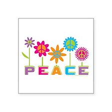 """Unique Peace Square Sticker 3"""" x 3"""""""