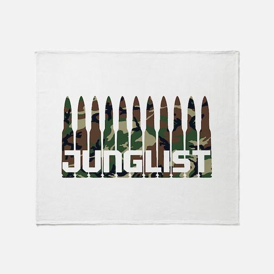 Junglist Camo Bullets Throw Blanket