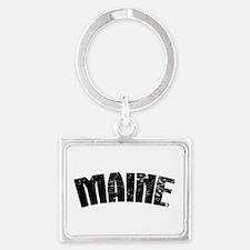 Maine ME Euro Oval Landscape Keychain