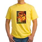 Mandolin Angel & Maltese Yellow T-Shirt
