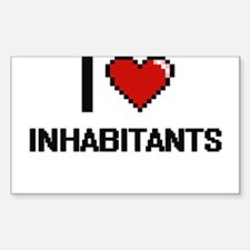 I Love Inhabitants Decal