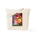 Mandolin Angel & Maltese Tote Bag