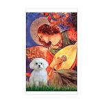 Mandolin Angel & Maltese Sticker (Rectangle)