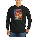 Mandolin Angel & Maltese Long Sleeve Dark T-Shirt