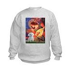Mandolin Angel & Maltese Kids Sweatshirt