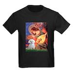 Mandolin Angel & Maltese Kids Dark T-Shirt