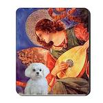 Mandolin Angel & Maltese Mousepad