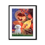 Mandolin Angel & Maltese Framed Panel Print