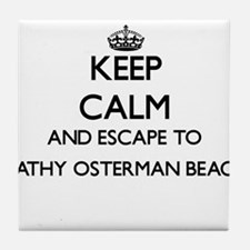 Keep calm and escape to Kathy Osterma Tile Coaster