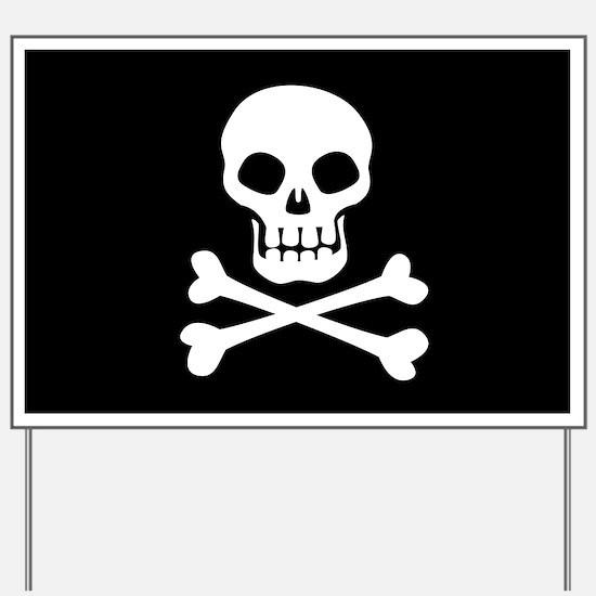 Pirate Flag Skull And Crossbones Yard Sign