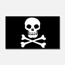 Pirate Flag Skull And Crossbones Car Magnet 20 x 1