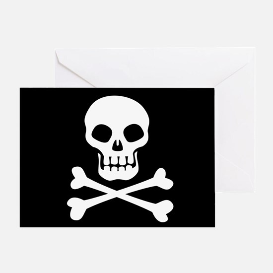 Pirate Flag Skull And Crossbones Greeting Cards