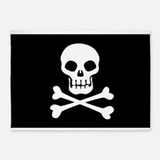 Pirate Flag Skull And Crossbones 5'x7'Area Rug