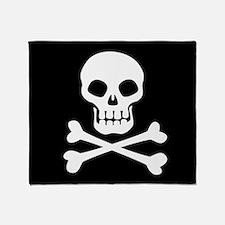 Pirate Flag Skull And Crossbones Throw Blanket