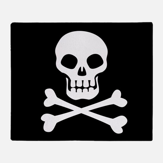 Pirate Flag Skull And Crossbones Throw Blanket