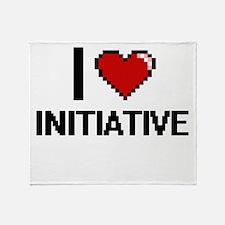 I Love Initiative Throw Blanket