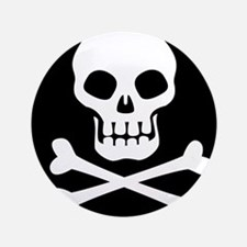 Pirate Flag Skull And Crossbones Button
