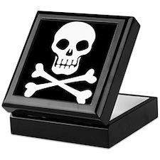 Pirate Flag Skull And Crossbones Keepsake Box