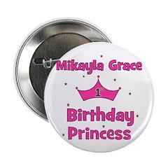 Mikayla Grace 1st Birthday Pr Button