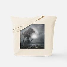 Bat Grave Night Tote Bag