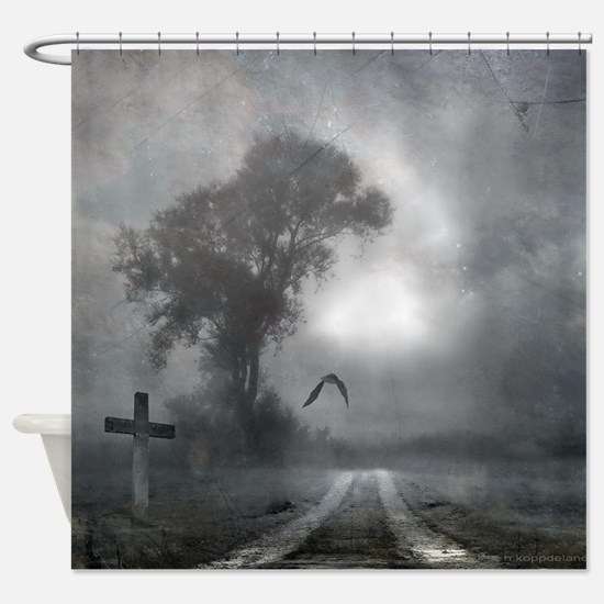 Bat Grave Night Shower Curtain