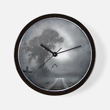 Bat Grave Night Wall Clock
