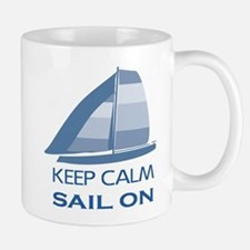 Keep Calm Sail On Mugs