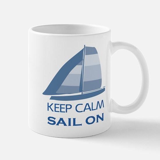 Keep Calm Sail On Mugs