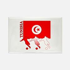 Tunisia Soccer Rectangle Magnet