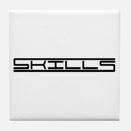 Skills Tile Coaster
