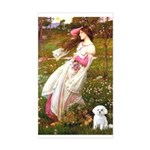 Windflowers / Maltese Sticker (Rectangle)