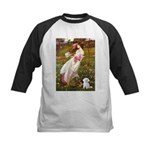 Windflowers / Maltese Kids Baseball Jersey