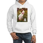 Windflowers / Maltese Hooded Sweatshirt