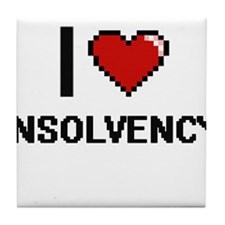 I Love Insolvency Tile Coaster