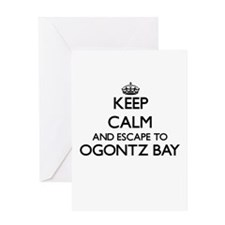 Keep calm and escape to Ogontz Bay Greeting Cards