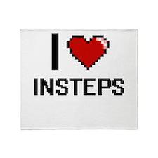 I Love Insteps Throw Blanket