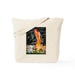 Fairies & Maltese Tote Bag