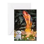 Fairies & Maltese Greeting Cards (Pk of 10)