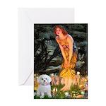 Fairies & Maltese Greeting Card