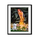 Fairies & Maltese Framed Panel Print