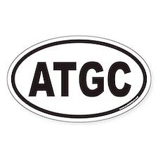 ATGC Euro Oval Bumper Stickers