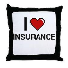 I Love Insurance Throw Pillow