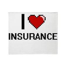 I Love Insurance Throw Blanket