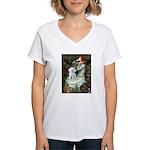 Ophelia's Maltese Women's V-Neck T-Shirt