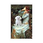 Ophelia's Maltese Sticker (Rectangle)