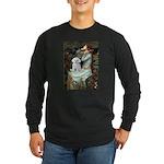 Ophelia's Maltese Long Sleeve Dark T-Shirt