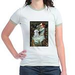 Ophelia's Maltese Jr. Ringer T-Shirt