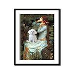 Ophelia's Maltese Framed Panel Print