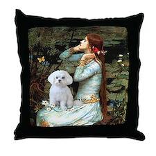 Ophelia's Maltese Throw Pillow